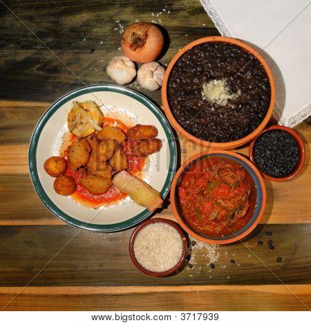 Постер, плакат: Типичные кубинские блюда, холст на подрамнике