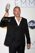 LOS ANGELES - SEP 23:  Kevin Costner in the press room of the 2012 Emmy Awards at Nokia Theater on S