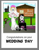 Spoof Wedding Greeting Card - simply add your own photos to complete the scene.