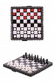 pic of draught-board  - The image of chessboards with draughts and chess - JPG