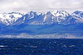 pic of tierra  - The Beagle Channel Patagonia Argentina develops between several islands - JPG
