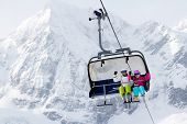 stock photo of ropeway  - Skiing - JPG