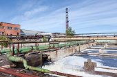 picture of wastewater  - Water treatment factory common view with wastewater - JPG