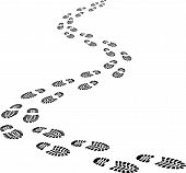 stock photo of footprint  - Incoming footprints   - JPG