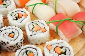 stock photo of avocado  - Maki Sushi and Nigiri  - JPG