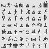 stock photo of handicap  - People icons set - JPG