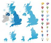 stock photo of political map  - United Kingdom  - JPG