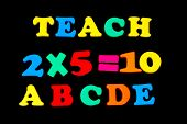Toy Letters And Numbers - Teach poster
