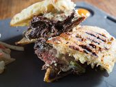Rare Grilled Steak Panini