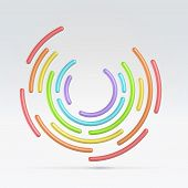 Abstract Circular Segmented Background