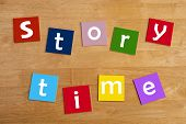 Story Time - Word Display For School Children.