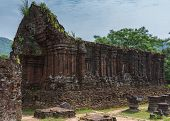 picture of champa  - Vietnam Roofless structure at My Son Cham towers - JPG