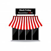 picture of tariff  - black friday shop icon with special design - JPG