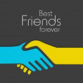 picture of friendship day  - Happy Friendship day background with handshake and text Best Friends Forever - JPG