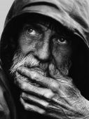 foto of homeless  - Portrait of homeless man in the streets of Milwaukee - JPG
