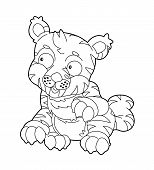 foto of dinosaurus  - Beautiful dinosaur coloring page for the children - JPG