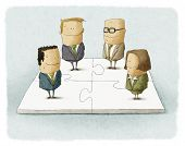pic of tangram  - People as pieces of a business puzzle - JPG