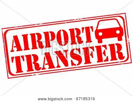 Постер, плакат: Airport Transfer Stamp, холст на подрамнике