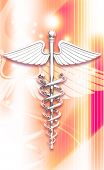 pic of sceptre  - 3d medical icon on a colour background - JPG