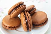 picture of french pastry  - traditional many french colorful tasty macarons - JPG