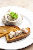 stock photo of marrow  - bone marrow with fried bread - JPG