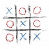 foto of tic-tac-toe  - Scribble tic tac toe illustration - JPG