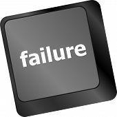 picture of fail-safe  - failure concept with word on keyboard key - JPG