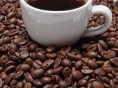 stock photo of vivacious  - A cup of coffe to get energy and become vivacious - JPG