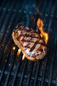 image of porterhouse steak  - A close up shot of an Australian Porterhouse steak - JPG