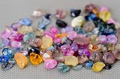 picture of uncut  - Set of uncut rough and raw colorful sapphires - JPG