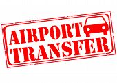 Постер, плакат: Airport Transfer Stamp