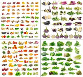 picture of okra  - fruit and Vegetables collection isolated on white background - JPG