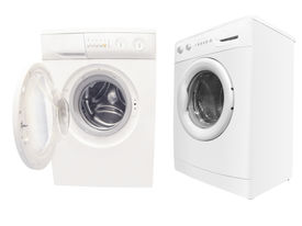 stock photo of washing-machine  - The image of washers under the white background - JPG