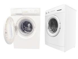 stock photo of washing machine  - The image of washers under the white background - JPG