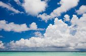 pic of kuramathi  - Clouds above the beach in the Indian Ocean - JPG