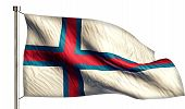 picture of faroe islands  - Faroe Islands National Flag Isolated 3D White Background - JPG