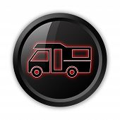 image of motorhome  - Image Graphic Icon Button Pictogram with Motorhome symbol - JPG