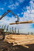 picture of logging truck  - Tree log hydraulic manipulator  - JPG