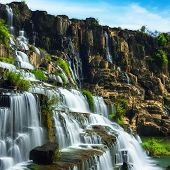 image of lats  - Tropical rainforest landscape with flowing Pongour waterfall - JPG