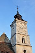 stock photo of evangelism  - Saint Bartholomew tower Evangelical church the oldest building in Brasov Romania - JPG