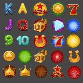 image of coin slot  - Symbols for slots game - JPG