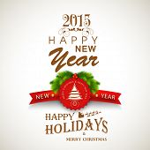 picture of mistletoe  - Happy New Year and Merry Christmas celebration beautiful poster - JPG