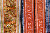 image of hmong  - Textile detail of Black Miao  - JPG