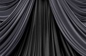 picture of stage decoration  - two tone of black curtain on stage curtain on stage for luxuary background - JPG