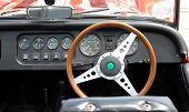 picture of mg  - Dashboard of a vintage car - JPG