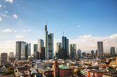 picture of frankfurt am main  - Frankfurt am Maine Germany cityscape on a sunny day - JPG