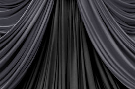 image of curtains stage  - two tone of black curtain on stage curtain on stage for luxuary background - JPG