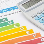 picture of fuel efficiency  - Colorful energy efficiency chart and calculator  - JPG
