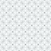 picture of node  - Seamless pattern with hexagons and nodes - JPG