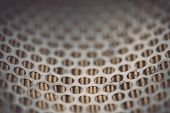 picture of grids  - Close up Metal grid of car air filter for background - JPG